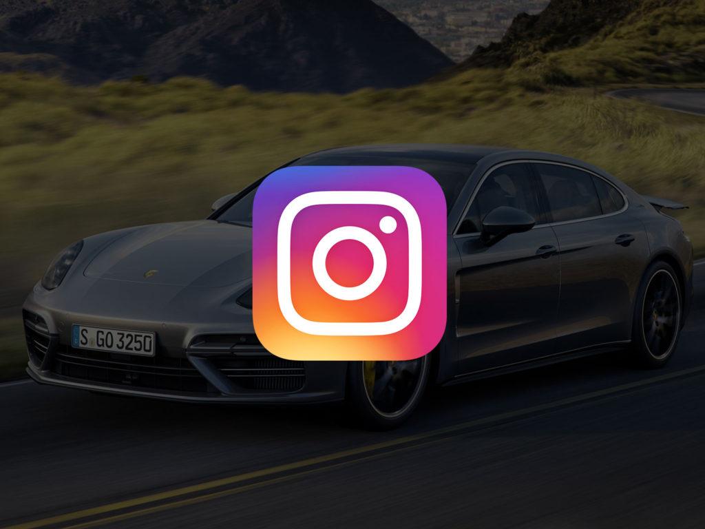 porsche plus logo instagram