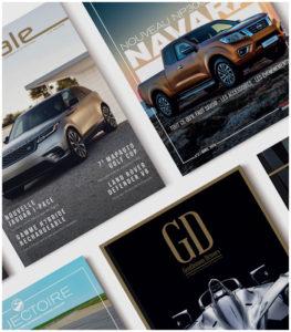 Création de Magazine pour les Concessions Automobiles