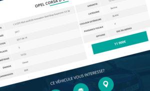 Fiches occasions - Création de site internet pour les Concessions Automobiles