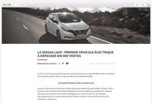 Newsletter - Création de site internet pour les Concessions Automobiles