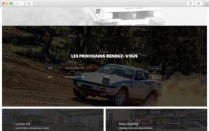 """Module """"Courses à venir"""" - Création de site internet pour les Écuries Automobiles"""