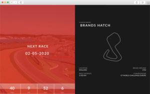 """Module """"Courses à venir"""" - Création de site internet pour les Pilotes Automobiles"""