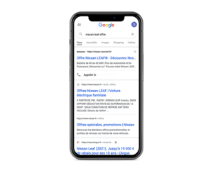 Publicité sur les moteurs de recherche Concession